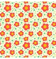 Simple floral pattern with poppies vector image
