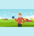 smart farm with drone control tech agro company