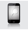 Smartphone with Magnifying Glass Search Icon vector image vector image