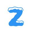 snow letter logo z vector image vector image