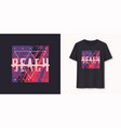 south beach miami stylish graphic t-shirt vector image vector image