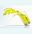 splash of mango juice from a falling glass vector image vector image