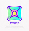 spotlight thin line icon vector image