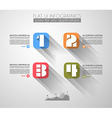 Timeline to display your data with Infographic vector image vector image
