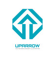 up arrow sign - logo template vector image