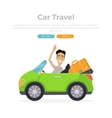 Vacation Car Travelling vector image