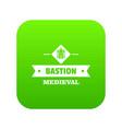 victorian bastion icon green vector image vector image
