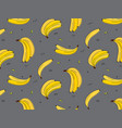 vitamin tasty bananas pattern tropical food vector image vector image