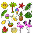 summer tropical set vector image