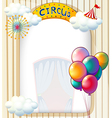 A circus entrance with balloons vector image