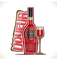 alcohol drink fruit liqueur vector image vector image