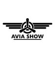 avia show logo simple style vector image vector image