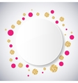 Background with pink and gold glittering circles vector image