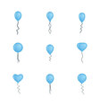 Balloons collection isolated on white background vector image vector image