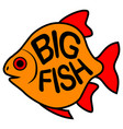 big fish background vector image vector image