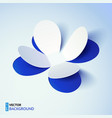Blue cutout paper plower vector image vector image