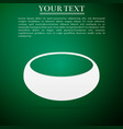 bowl flat icon on green background vector image