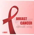 breast cancer background vector image vector image