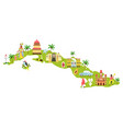 bright map cuba with symbols icons famous vector image vector image