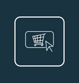 buy button icon line symbol premium quality vector image vector image