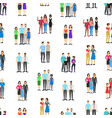 cartoon characters different homosexual couples vector image vector image