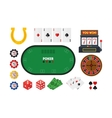Cartoon Poker Set vector image vector image