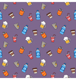 Colorful hand drawn drinks seamless pattern vector image vector image