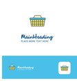 creative basket logo design flat color logo place vector image vector image