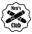 cross cigar men club logo simple style vector image