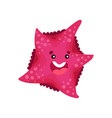 cute smiling cartoon starfish character vector image