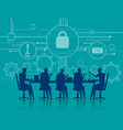 cybersecurity business meeting security concept vector image vector image
