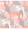 decorative tropical pattern with palm leaves vector image vector image