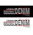 denim sport typography design vector image vector image