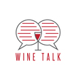 design template of wine talk concept vector image vector image
