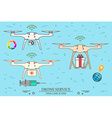 drone service medical delivery video vector image