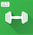 dumbbell fitness gym in flat style barbell with vector image vector image