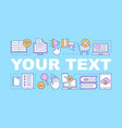 e-books store word concepts banner vector image