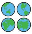 earth globe flat symbols vector image