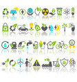 eco friendly bio green energy sources icons signs vector image