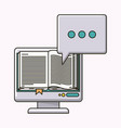 electronic book isolated icon vector image vector image
