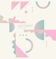 elegant composition with dynamic and geometric vector image vector image