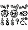 gears set vector image vector image