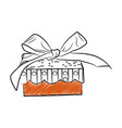 gift box template outline style icon vector image