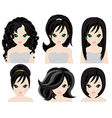 hairstyles for black hair vector image vector image