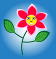 happy and smiling flower vector image