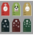 Holiday gift new year and christmas gift tags vector image vector image