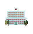 hospital public city building front view cartoon vector image