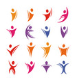 isolated colorful abstract human body silhouette vector image vector image