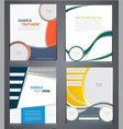 layout business brochures flyer design template vector image vector image