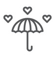 love rain line icon romantic and valentine vector image